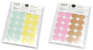 DOT STICKER TRANS-Blue-Yellow